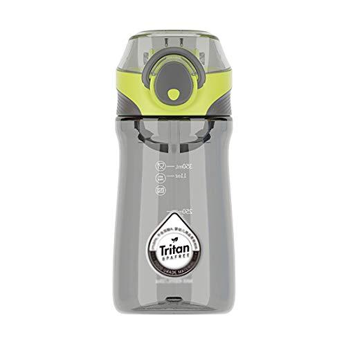CYR Taza de plástico tritan Tapa Pop Creativa Personalidad Mango Taza de Agua Masculina y Femenina Estudiante Deportes Taza de Paja portátil,A,550ml