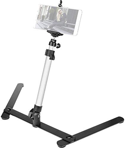 Photo Copy Stand Projector Stand with Phone Clamp Overhead Phone Mount Phone Stand Mini Tripod product image