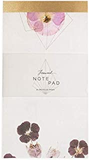 Fireweed: Notepads 2-Pack, Elegant Illustrated Notepad - Note pad with Lined Paper – Mini Notebook for Home, Office, Travel, Or School – Legal Pad for Work – Large Notepad for Writing (Violet Glow)