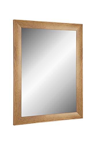Online-GalleryKing TheMIRROR' gerahmter Spiegel aus echtem Glas 55 x 60 cm Maßanfertigung Wandspiegel in Farbe Eiche Rustikal z.B als Flurspiegel Salonspiegel usw.