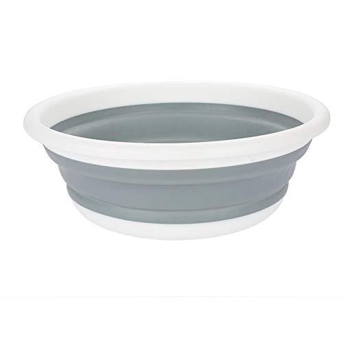 EBTOOLS Tragbarer Camping-Schüssel Faltbar Abwasch-Schüssel Kunststoff Faltschüssel Waschbecken Silicon Bowl Gemüsewaschwerkzeug Faltbecken für zu Hause, Camping, Picknick, 37,5 * 4,6 cm-13 cm