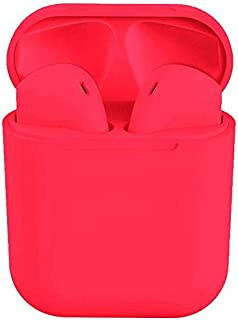 InPods 12 Touch Controlled True Wireless Earbuds with Bluetooth 5.0 (hot pink)
