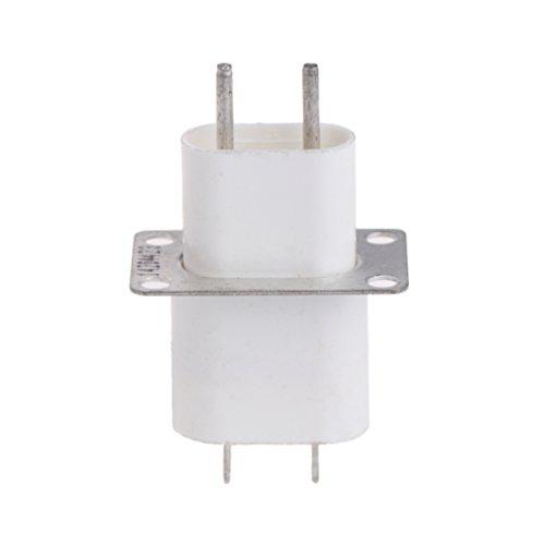 BIlinli Inicio Electrónica Microondas Horno Magnetrón Filamento 4 Pin Horno Conector Socket Convertidor Blanco