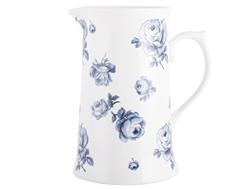 Katie Alice Vintage Indigo Großer Krug aus Keramik, mit Blumenmuster, 1100 ml (34 fl oz)