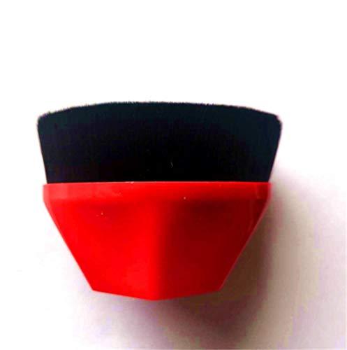 2 PCS Make-up Brush Sets Haute Densité Flawless Wand Foundation Brush BB Cream Makeup Brushes Loose Powder (rouge)