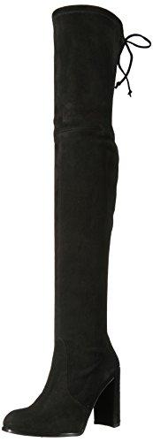 Stuart Weitzman Women's HILINE Over The Knee Boot, Black Suede, 11 Medium US