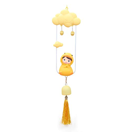 Cucheeky Carillón de viento ornamental para habitación de los niños, decoración para colgar con sonajero, juguete para la habitación de los niños