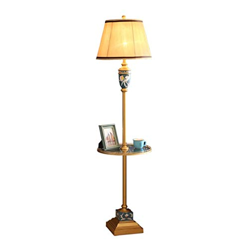 UWY Lámpara de pie Lámparas de pie para Sala de Estar Lámpara de pie Americana, Sala de Estar Mesa Retro Simple Mesa de Centro Lámpara de mesita de Noche de Dormitorio Creativo Pintado a Mano EU