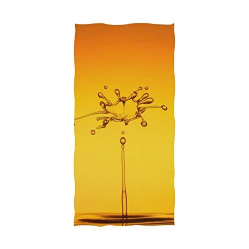 REFFW Dekorativer in hohem Grade saugfähiger Wassertropfen, der Gelb für Badezimmer-Ausgangshotel-Turnhallen-Badekurort-Schale spritzt