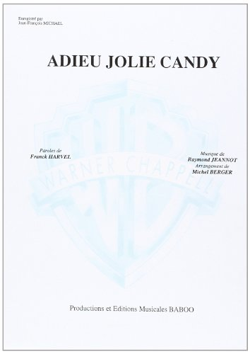 Michael Jean-Francois Adieu Jolie Candy Voice & Piano Book