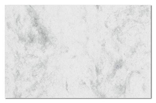 SIGEL DP742 Visitenkarten marmoriert grau, 100 Stück = 10 Blatt, glatter Schnitt rundum, 85x55 mm - auch in beige