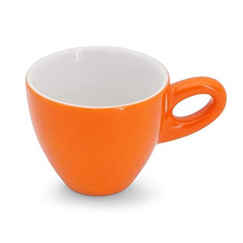 Walküre Porzellan Taza de café espresso baja, 0,08 l, color naranja
