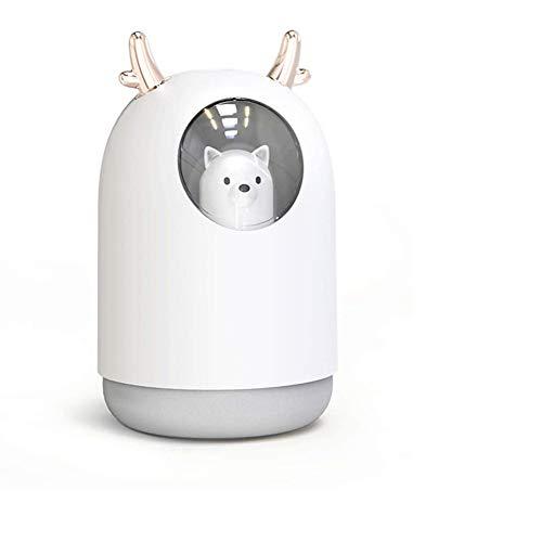 Dongbin Mini-USB-Befeuchter Tragbarer Vernebler Netter Luftreiniger Nachtlicht Schlafzimmer Office Desktop-Befeuchter-Luft-Diffusor Aromatherapie 1PCS,A