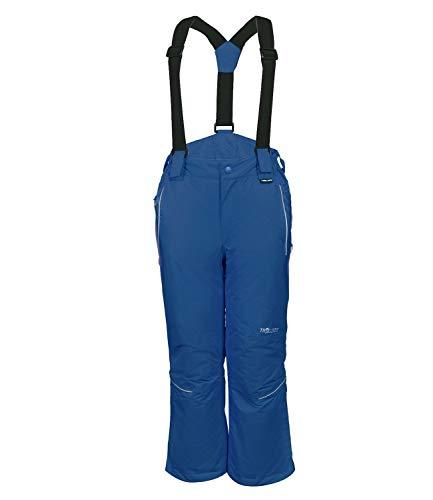 Trollkids Kinder wasserdichte Skihose/Schneehose Holmenkollen,Blau, Größe 128
