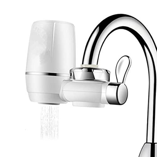 Sistema de Filtro de Agua del Grifo del Fregadero de la Cocina Filtro de purificador de filtración de Agua del Grifo Filtro de cerámica para el baño de la Cocina - Blanco 15 * 11.5 * 6.5CM