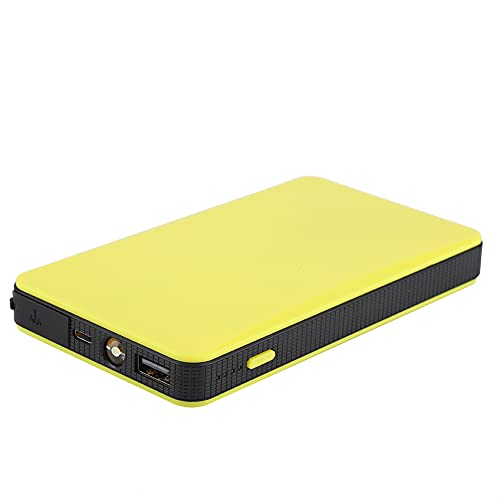 Amplificador de batería, potencia de arranque de emergencia para automóvil, protección múltiple, batería de alta capacidad, luz LED con cable de carga USB para motocicleta para tractor para(amarillo)