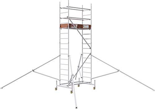 ALTEC Rollfix® 1.0 500 | 5m AH | Rollen (Ø125mm) | Standardtraverse | Dreieckausleger | Made in Germany | TÜV&GS | belastbar 200kg/m² | Alu Arbeitsgerüst | Baugerüst | Fahrgerüst