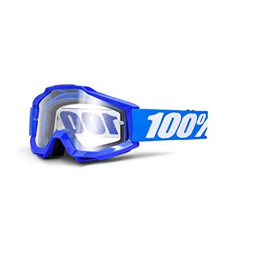 100% ACCURI Brille Reflex - klar Linse, Blau , Größe One Size