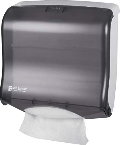 San Jamar T1755TBK Ultrafold Fusion Folded Towel Dispenser, Fits 400 Multifold/240 C-Fold Towels, Classic, Black Pearl