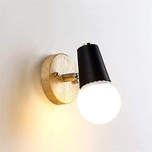 NUEVO Log Nordic Wood Lámpara de pared de la pared de la cabecera sala de estar de la cama Light Light Lights Lights Wall Sconce Lámpara Lámpara Comedor Vanity Restaurantes Cocina Perfecta para la gra