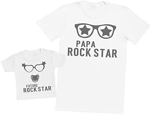 Future Rock Star Fille - Ensemble Père Bébé Cadeau - Blanc - L & 0-3 Mois
