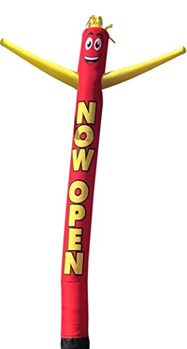 Now Open 20 Foot Tall Inflatable Tube Man Air Powered Dancing Puppet Guy for Outdoor Advertising, Replacement Dancer Only, Motor Not Included