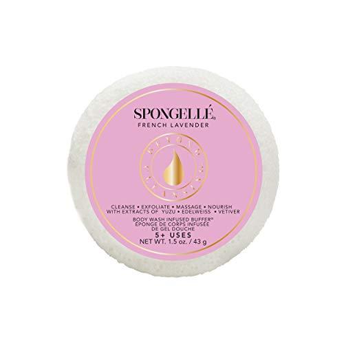 Spongellé Travel Size Spongette - Body Wash Infused Bath/Shower Sponge - French Lavender
