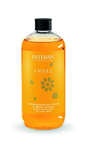 ESTEBAN PARIS - Ricarica di profumo 500ml AMBRA per bouquet e diffusore in ceramica AMB-085