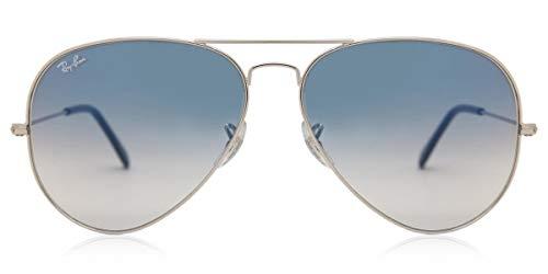 Ray-Ban Aviator RB 3025 Argento / Gradiente Blu Medium (Unisex)