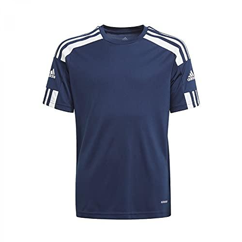 adidas, Squadra 21, Camiseta, Equipo Azul Marino/Blanco, 5-6A, Unisex-Hijo