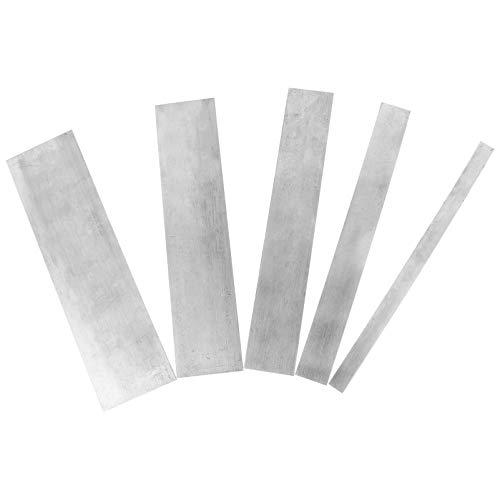 DOITOOL 5 x Schaber für Schrank, Kartenschaber, Manganstahl, Holzbearbeitungsschaber