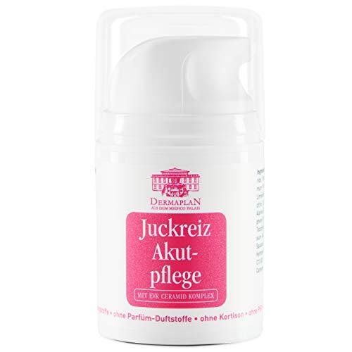 DERMAPLAN - Juckreiz Akutpflege Salbe 50ml - Creme gegen trockene Haut & akuten Juckreiz bei z.B. Neurodermitis, Schuppenflechte oder Insektenstichen - Made in Germany - 100% vegan – Hautcreme