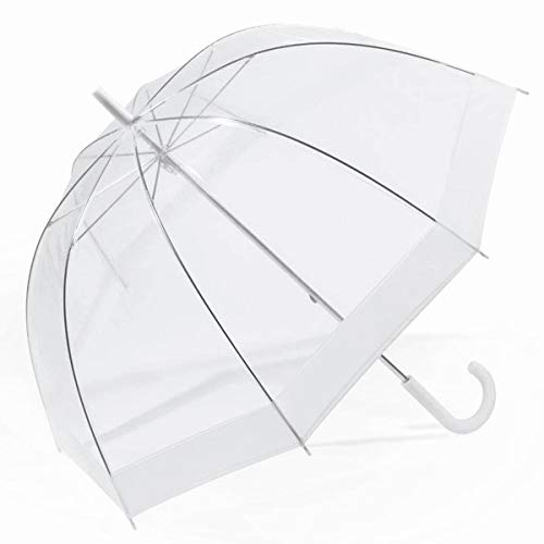 HAPPY RAIN - Parapluie Long Domeshape Blanc HAPPY RAIN