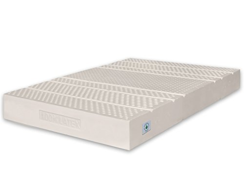 Marcapiuma - Small Double Latex Mattress 4 ft 120x190 cm depth 20 cm - SEVENLIFE 20-100% Latex Medium H2 Firmness - 7 Zones Orthopaedic Mattress - SILVER ION removable Cover - 100% Made in Italy