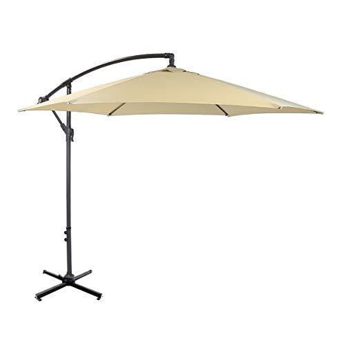 Madison Housse de Protection pour Parasol sur Pied Jardin Gris COVKP025