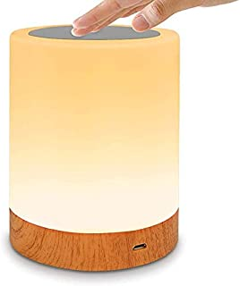 Innoo Tech Night Light, LED Night Light Touch Control Chargeable Smart Bedside Table Lamp, USB Rechargeable, Color Changin...