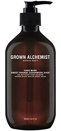 Grown Alchemist Hand Wash - Sweet Orange, Cedarwood & Sage - Liquid Hand Soap, Clean Skincare (500ml / 16.9oz Pump Bottle)