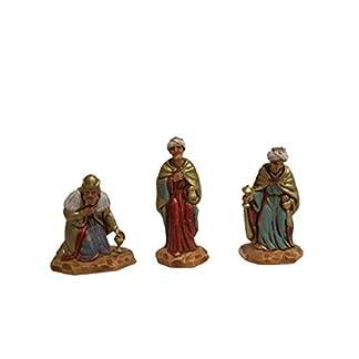 All Shop – 3 Re Magi Moranduzzo – Figuras de Belén de 3,5 cm artesanales y bellas