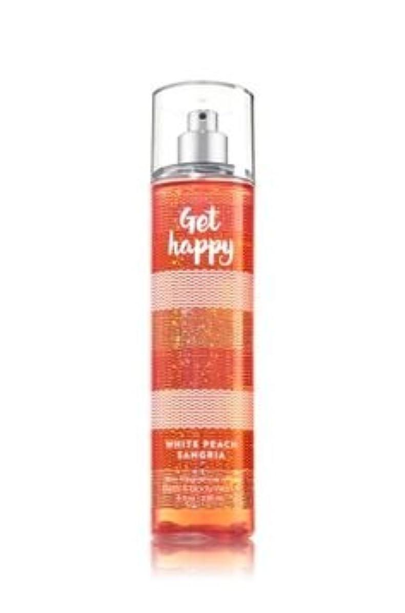 試用同意ルーキー【Bath&Body Works/バス&ボディワークス】 ファインフレグランスミスト ホワイトピーチサングリア Fine Fragrance Mist Get Happy White Peach Sangria 8oz (236ml) [並行輸入品]
