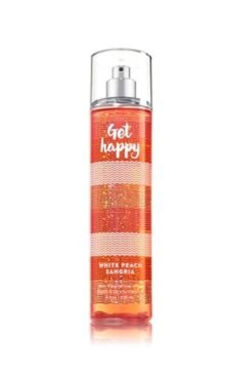 赤道犬方向【Bath&Body Works/バス&ボディワークス】 ファインフレグランスミスト ホワイトピーチサングリア Fine Fragrance Mist Get Happy White Peach Sangria 8oz (236ml) [並行輸入品]