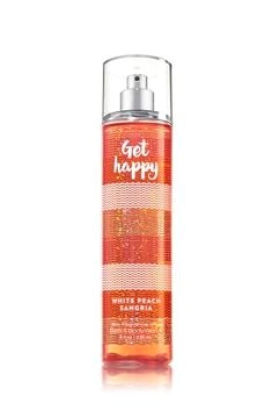 スイッチモールホラー【Bath&Body Works/バス&ボディワークス】 ファインフレグランスミスト ホワイトピーチサングリア Fine Fragrance Mist Get Happy White Peach Sangria 8oz (236ml) [並行輸入品]