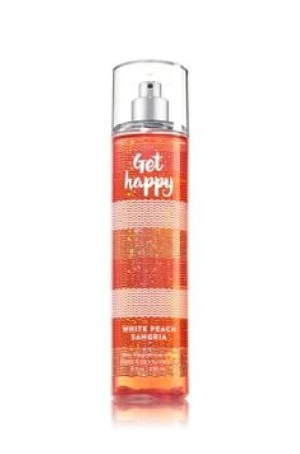 終了しましたコショウ土砂降り【Bath&Body Works/バス&ボディワークス】 ファインフレグランスミスト ホワイトピーチサングリア Fine Fragrance Mist Get Happy White Peach Sangria 8oz (236ml) [並行輸入品]