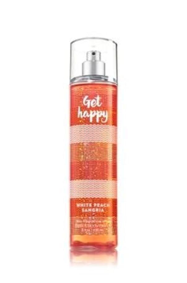 気になる組レパートリー【Bath&Body Works/バス&ボディワークス】 ファインフレグランスミスト ホワイトピーチサングリア Fine Fragrance Mist Get Happy White Peach Sangria 8oz (236ml) [並行輸入品]