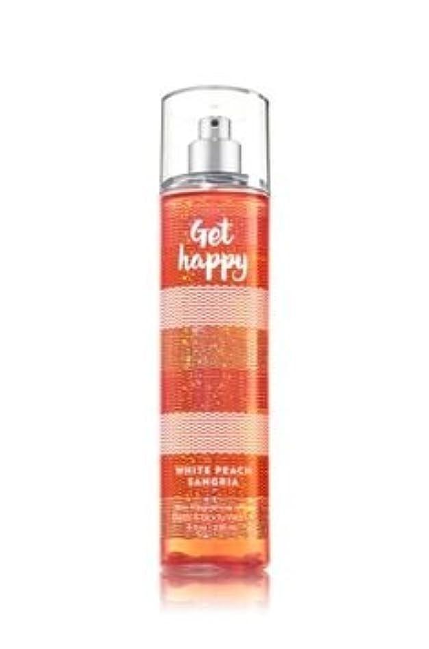 アベニュー買収偽善者【Bath&Body Works/バス&ボディワークス】 ファインフレグランスミスト ホワイトピーチサングリア Fine Fragrance Mist Get Happy White Peach Sangria 8oz (236ml) [並行輸入品]