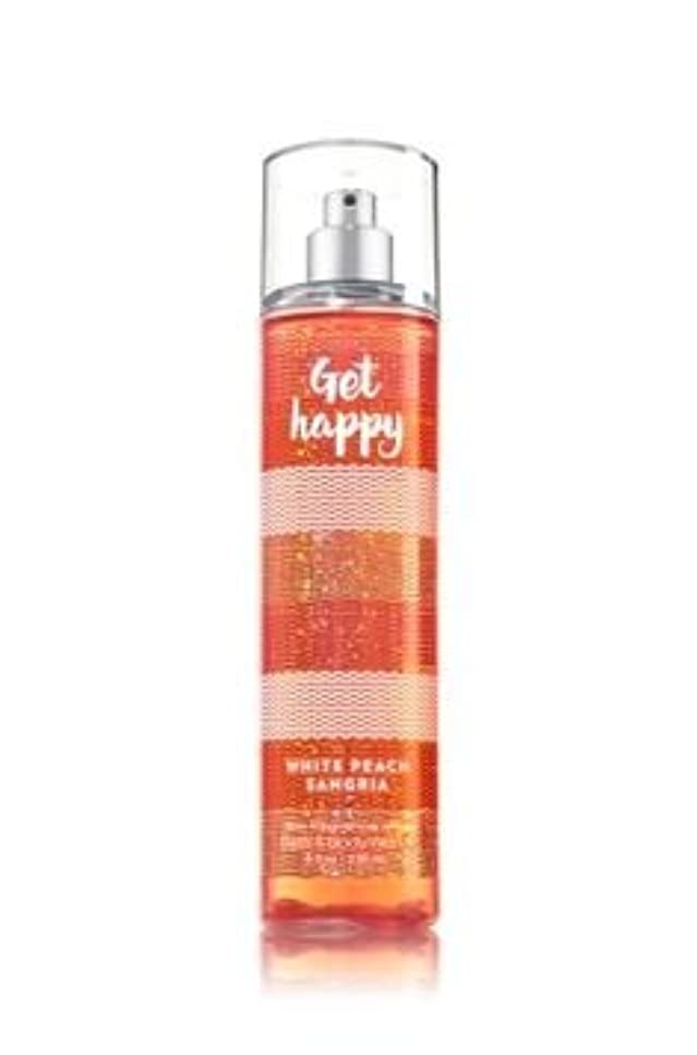 ホイップ明らかに緩む【Bath&Body Works/バス&ボディワークス】 ファインフレグランスミスト ホワイトピーチサングリア Fine Fragrance Mist Get Happy White Peach Sangria 8oz (236ml) [並行輸入品]