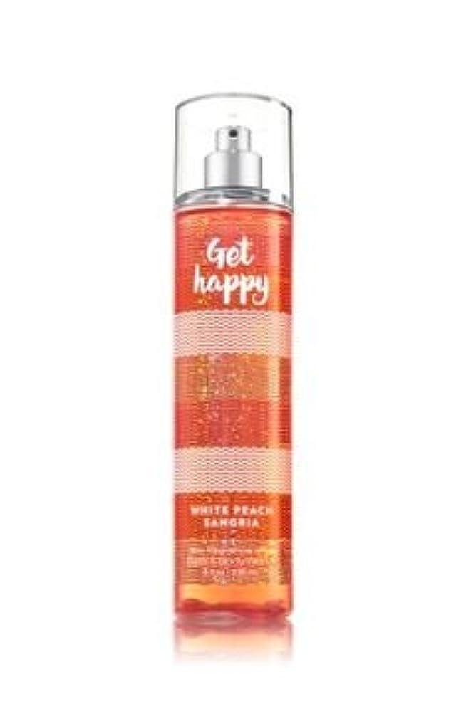 クリエイティブクリエイティブ汚染する【Bath&Body Works/バス&ボディワークス】 ファインフレグランスミスト ホワイトピーチサングリア Fine Fragrance Mist Get Happy White Peach Sangria 8oz (236ml) [並行輸入品]