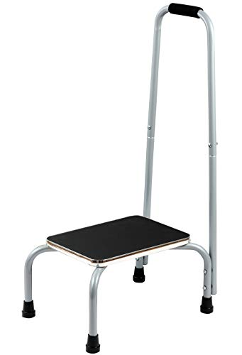 Bundaloo Support Step Stool | Best Foot Stool for Hospital Bed, Kitchen Shelving, & Bath Tub | Non-Slip Rubber Handle, Platform, & Feet for Extra Safety | for Adults & Kids in Home or Medical Setting