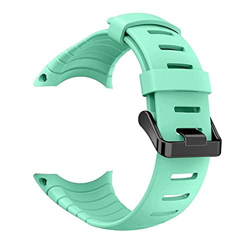 DJDLOK Correa de Reloj de Silicona para la Pulsera de la Pulsera de la Banda de Reloj de Suunto Core para la Banda de Relojes de reemplazo de Suunto Core Accesorios (Band Color : Mint Green)