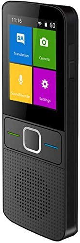 Sprachübersetzer 2,4 Zoll Touchscreen Intelligent Zwei-Wege-Wifi/Hotspot/Offline Echtzeit-Translator unterstützt 137 Sprachen, kompatibel mit Android System Kyman