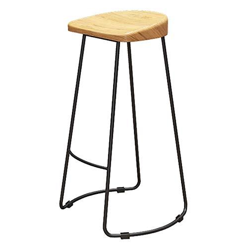 VERDELZ Holz Barhocker Theke Stuhl Schwarz Metallrahmen Frühstück Küchenstuhl Küchenbar Geeignet Für Cafe Restaurant Max. Last 150 Kg, 75 cm